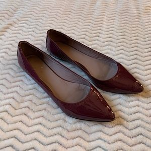 Boden Purple Patent Leather Pointed Toe Flats sz 8